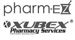 Pharm-ez logo and Xubex logo